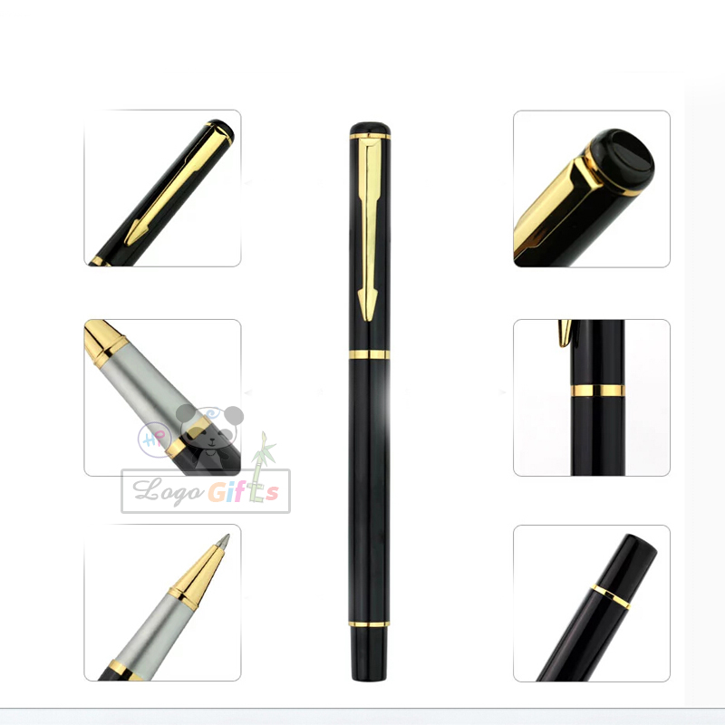 Hot branded pen writing soomth business fashion style with your logo free in Ballpoint Pens from Office School Supplies