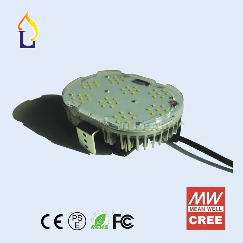 6 db / tétel LED Retrofit Kit utcai világítás 100w 120w 150w Cree vagy SMD3030 chip Meanwell vezetői shoex box led utcai lámpa