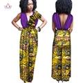 Новые Поступления Африканских Одежды для Женщин Рукавов Комбинезон Длинные Брюки Африканская Одежда Из Плеча Негабаритных 6XL BRW WY1307