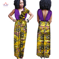 New Arrivals African Clothes for Women Sleeveless Jumpsuit Long Pants African Clothing Out Off Shoulder Oversize 6XL BRW WY1307