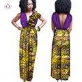 Novas Chegadas Roupas Africano para As Mulheres Sem Mangas Macacão Calças Compridas Vestuário Africano Fora Do Ombro Oversize 6XL BRW WY1307