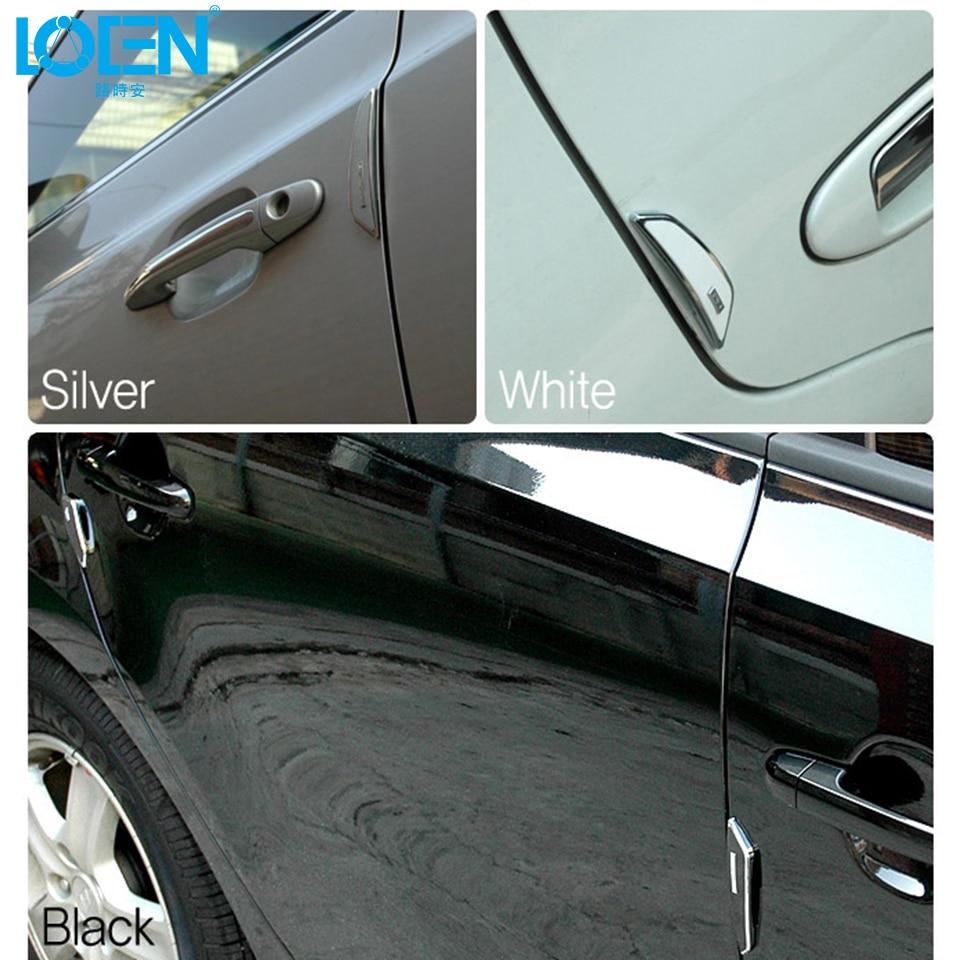 8pcs Car SUV Side Door Edge Protector Protective Strip Scrape Guard Bumper Guards Handle Cover Black White Transparent