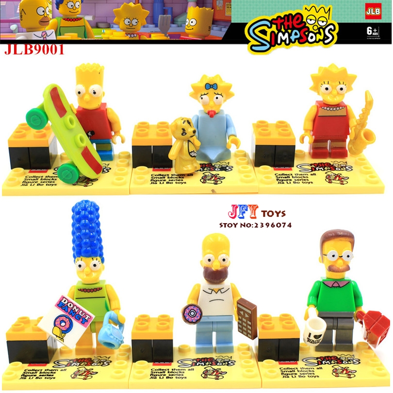 60pcs starwars super heroes marvel Cartoon Bart Homer building blocks bricks toys hobby interesting toys for kids speelgoed