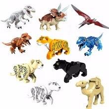 Legoing Одиночная мир Юрского периода животные динозавры строительные блоки игрушки для детей Черная пантера Парк Юрского периода ребенок Legoings