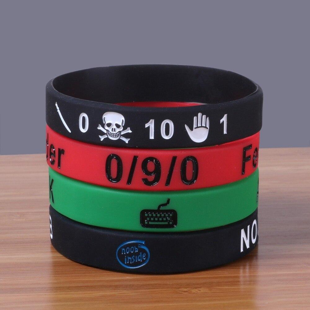Lot Rubber Bracelets Mix  Design Noob Inside And