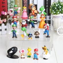 5 zestawów partia 18 sztuk zestaw Super Mario Bros rysunek zabawka lalka zabawa kolekcjonerska pcv figurki Super mario rysunek zabawki tanie tanio Żołnierz części i podzespoły elektroniczne Montaż montażu Modelu Wyroby gotowe Japonia Unisex 3 lat 8 cm Film i telewizja