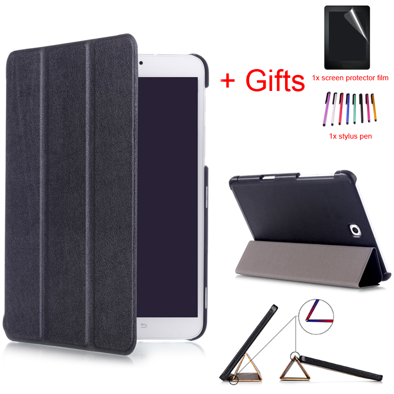 Smart Magnet PU Leather Tablet Case For Samsung Galaxy Tab S2 8.0 T710 T715 8inch Wake/Sleep Stand Protective Cover +Film+Pen цены