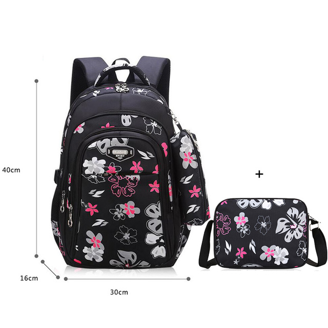 Floral Girls Backpacks School …