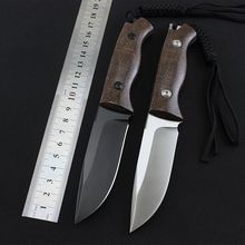 High Quality ADG 58-60HRC D2 blade advanced flax handle hunting fixed knife outdoor camp survival tool tactical utility knives