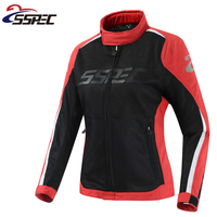 Women Motocross Jacket Spring Summer Motorcycle Jacket breathable Mesh Riding moto protective clothing with 5pcs protectors