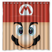 "Bathroom Products Polyester Fabric Super mario Printed Shower Curtains Waterproof&Washable Bath Curtains 72""x72"""