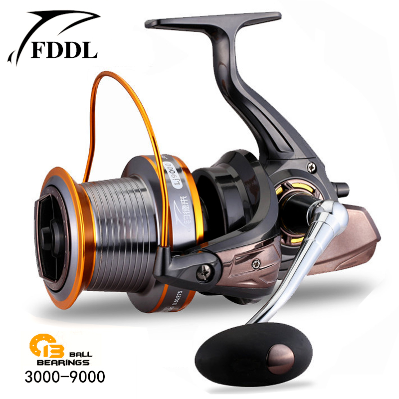 Casting reels spinning reel full metal spool 12 1bb for for Surf fishing reels