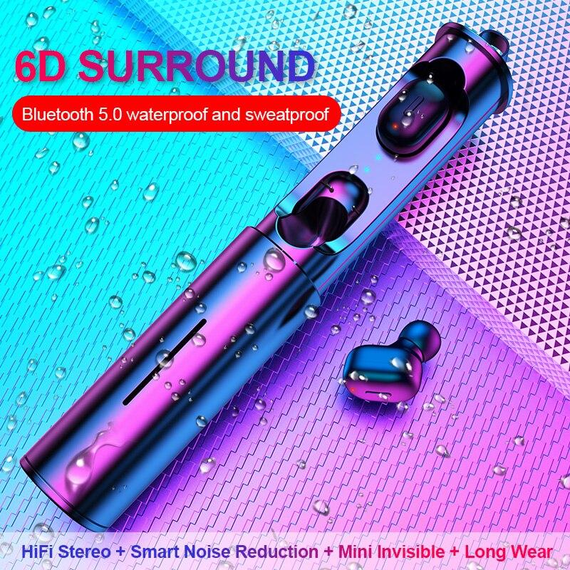 Mini T1 TWS V5.0 Bluetooth écouteur 3D véritable sans fil stéréo écouteurs avec micro Portable HiFi son profond sans fil double casque-in Écouteurs et casques from Electronique    1