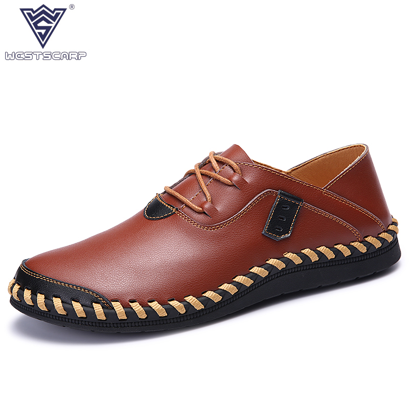 New Breathable Men Casual Shoes Autumn Spring Men Flats Black/red Casual Leather Men Oxford Shoe Zapatos Hombre Plus Size 38-44