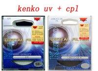 2in1 62mm kenko uv ultra violet filter + circulaire polarisator cpl digitale filtre kit voor nikon sony canon pentax