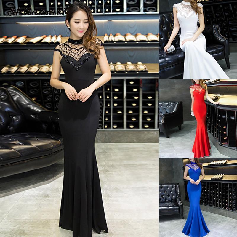 Formal Vestidos de Noche de La Sirena Larga de Las Mujeres de los Vestidos de No