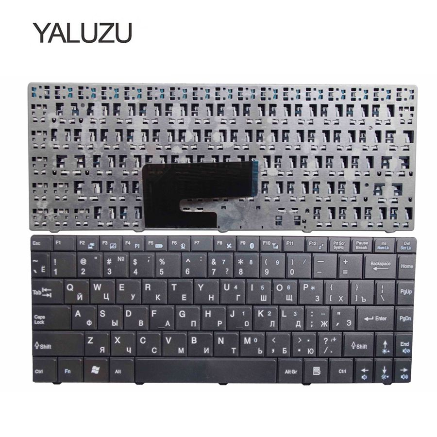 YALUZU Russian laptop keyboard for MSI CR420 CR400 X350 EX465 CX420 CR420 X370 CR460 RU layout black replace keyboard