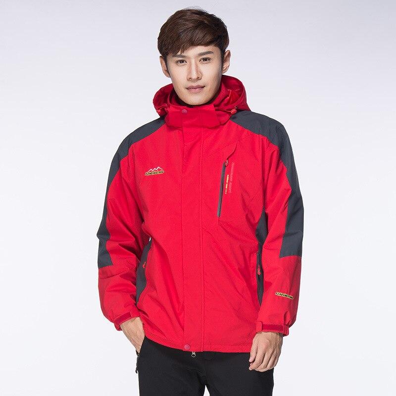 L-8XL grande taille randonnée vestes hommes femmes extérieur Ski-Wear 3 en 1 amoureux deux pièces polaire grands Yards chasse veste tactique veste
