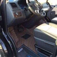 fiber leather car floor interior mat for volkswagen multivan Caravelle Transporter T5 2003 2018 2017 2015 2016 2014 2013 2012 T6