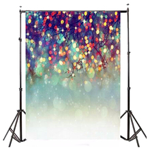 5x7FT Merry Christmas Glitter Tree Photography Background Vinyl Photo Backdrop