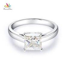Peacock Star 14K White Gold 1 Carat Moissanite Diamond Wedding Engagement Ring Fine Gold Bridal Jewelry