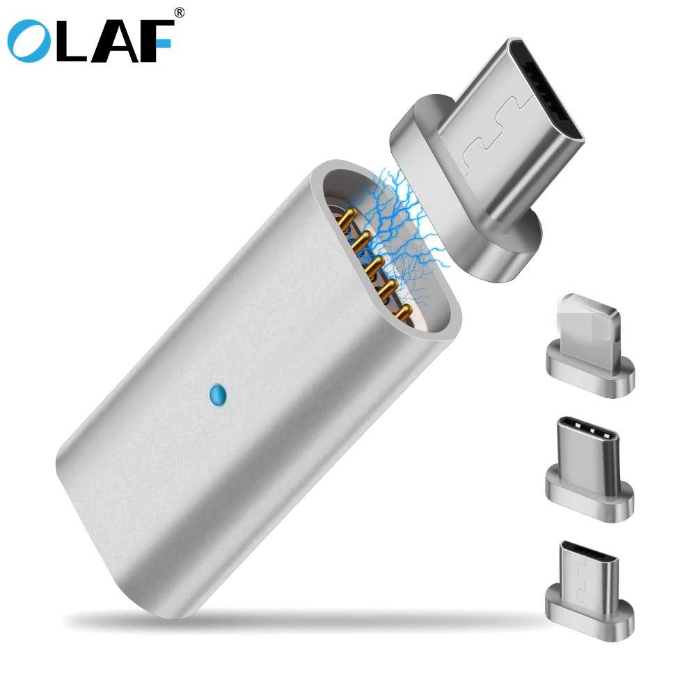 Olaf Mirco USB Connector Magnet Adapter Micro USB to Type-C for iPhone Mrico USB Charger Cable Magnetic Mobile Phone Adapters