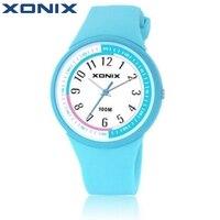 Hot Xonix Fashion Women Dress Watches Waterproof 100 Meters Ladies Jelly Quartz Watch Swimming Diving Hand