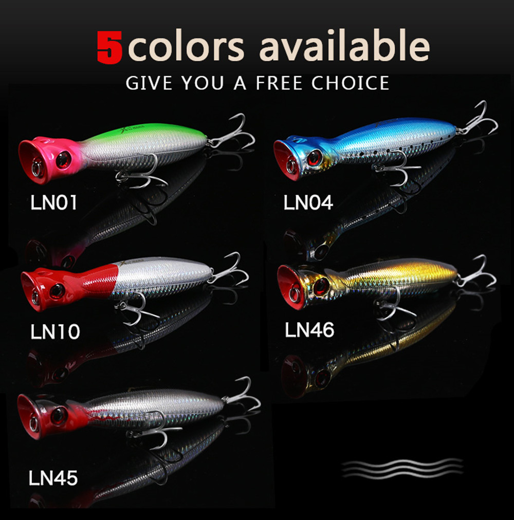 Kingdom Popper Fishing Lures High Quality professional Hard Baits 8cm 10cm 13cm Floating Top water Wobblers Fishing Tackle Baits 12