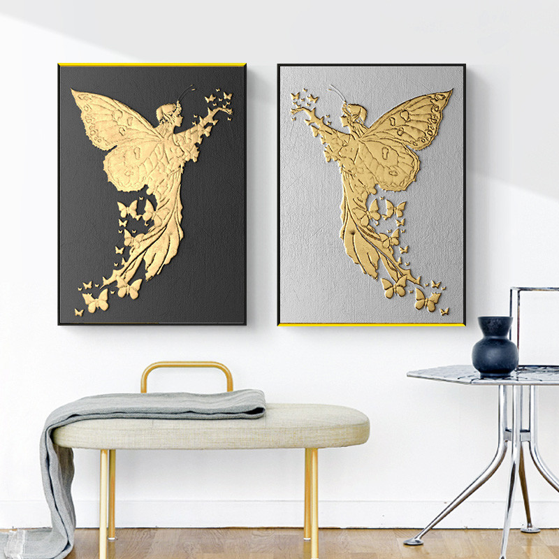 24 Creative Bedroom Wall Decor Ideas: Creative Vintage Chassical Gold Bronze Home Decor Nordic