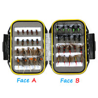 40pcs Set Cost Effective Wet Dry Nymph Fly Fishing Lure Box Set Fly Tying Material