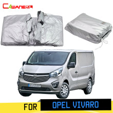 Cawanerl Full Car Cover Anti-UV Sun Shade Rain Snow Scratch Protector MPV Cover Windproof For Opel Vauxhall Vivaro 2001-2019(China)
