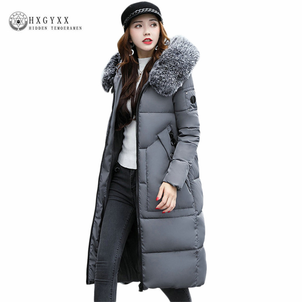 Long Winter Women Parka Plus Size Large Fur Fashion Hooded Warm Quilted Coat Cotton Padded Puffer Jacket Zipper Overcoat Oka574 mcckle winter jacket with fur collar hooded cotton padded long puffer coat outwear women fashion thickening warm parka overcoat