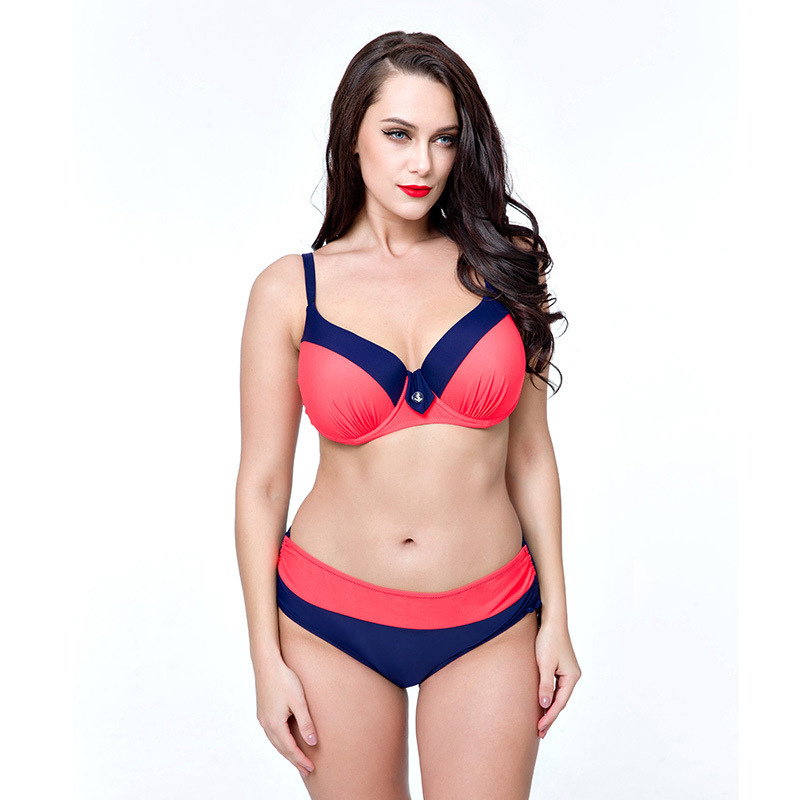 <font><b>2018</b></font> <font><b>Sexy</b></font> <font><b>Bikini</b></font> Women Swimsuit <font><b>Push</b></font> <font><b>Up</b></font> Swimwear Cross Bandage Halter <font><b>Bikini</b></font> Set Beach Bathing Suit Swim Wear 4XL-8XL image