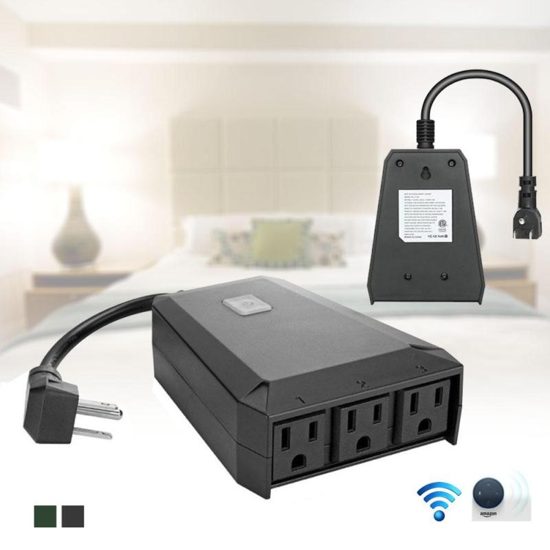 Outdoor Smart Outlet Switch Wi-Fi Smart US Plug Wireless Remote Control Outlet Waterproof Switch Z20 аксессуар gopro wi fi smart remote armte 002