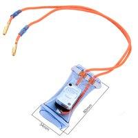 AC 250V 10A 7 en grados Celsius  bimetálico frigoríficos Defroster termostato de Metal cuadrado refrigerador Defroster termostato de accesorio|Piezas de refrigerador|Electrodomésticos -