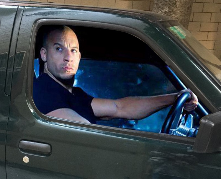 LEFT SIDE Car Stickers Vin Diesel Vehicle Driving Personality - Window stickers for cars by vin