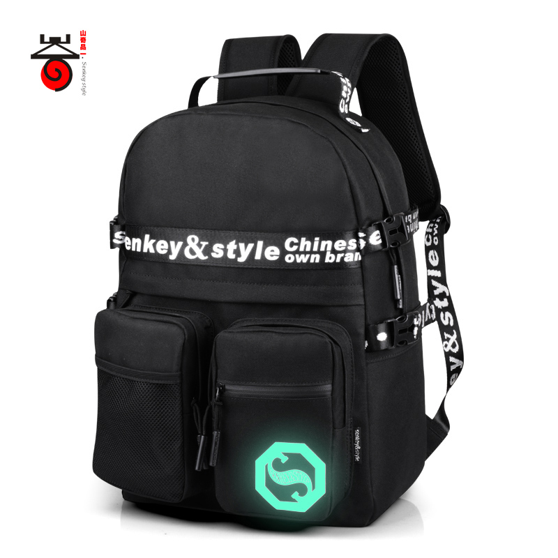 2017 Senkey style Luminous Reflecting Men's Backpacks Fashion Mochila For Teenagers Student School Bags Casual Travel laptop Bag