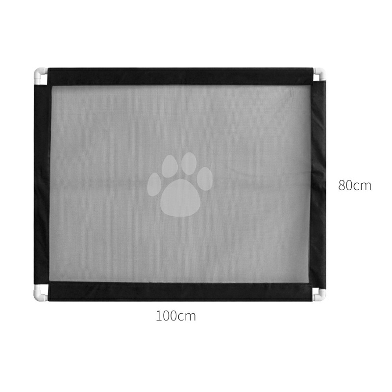 Petshy Dog Cat Fences Portable Foldable Mesh Safe Guard Indoor Outdoor Safety Isolation Network Pet Gate for Baby Children Dogs