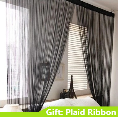 Stripe Perspective Straight Line Partition Tube String Curtains For Living Home Decor Wedding Hotel 1*2m 3x3m French Window