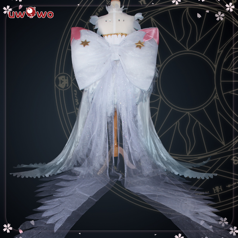 UWOWO2018 Anime Cardcaptor Sakura Cosplay Costume Accessory Bowknot And Headwear