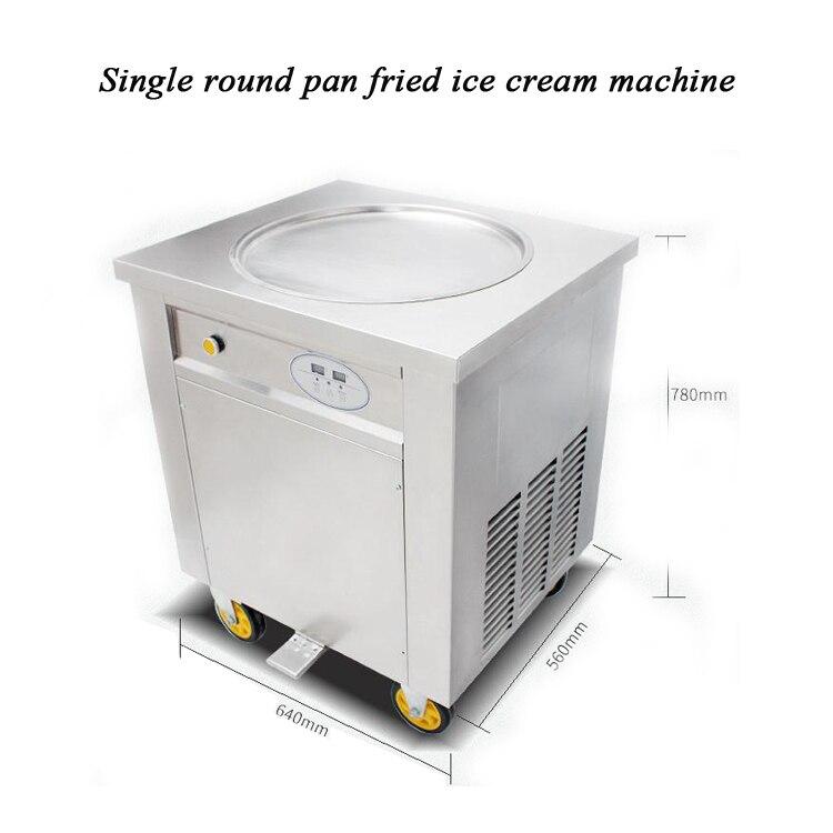 48cm Single Round Pan Fried Ice Cream Roll Machine,Commercial Fried Milk Yogurt Machine, Ice Cream Maker 48cm Single Round Pan Fried Ice Cream Roll Machine,Commercial Fried Milk Yogurt Machine, Ice Cream Maker