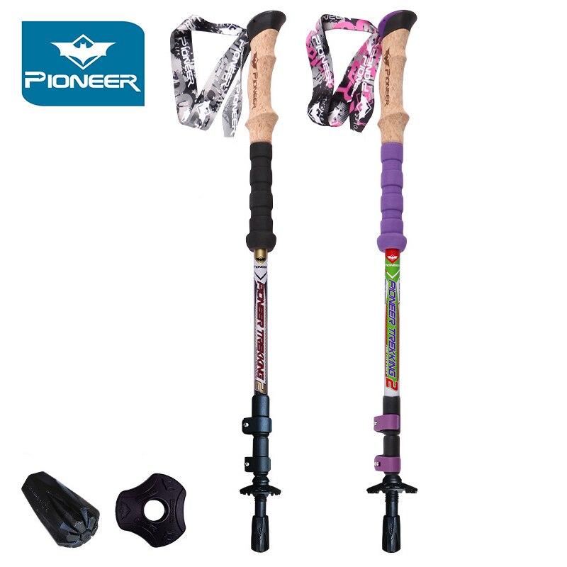 62 cm-135 cm réglable 100% tige en Fiber de carbone bâtons de randonnée ultra-légers et solides bâtons de randonnée pour marche nordique randonnée Climbin