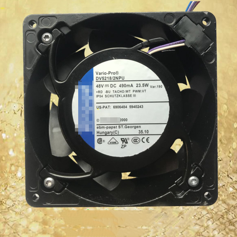 For Ebmpapst DV5218/2NPU 48V 23.5W 127*127*38mm IP54 Waterproof Cooling Fan new efb1312she 12v 2 76a 13cm 12738 fans server fan violence 127 127 38mm page 6