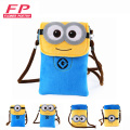 Women bag 2016 New cute Cartoon Messenger Bag Minions Coin Purse Drop Shipping bolsa feminina high quality Plush Cartoon handbag