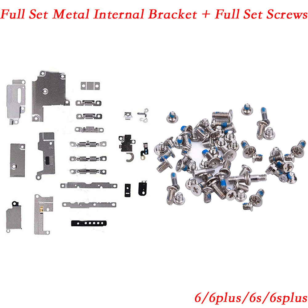 2pack/set Full Set Small Metal Internal Bracket Shield Plate Kit + full set  screws for IPhone 6 6s 6 Plus 6s Plus