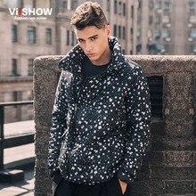 Viishow moda marca de algodón de invierno chaqueta Abrigos de plumas parka invierno chaqueta hombres ligero parka Warm Coat m123054
