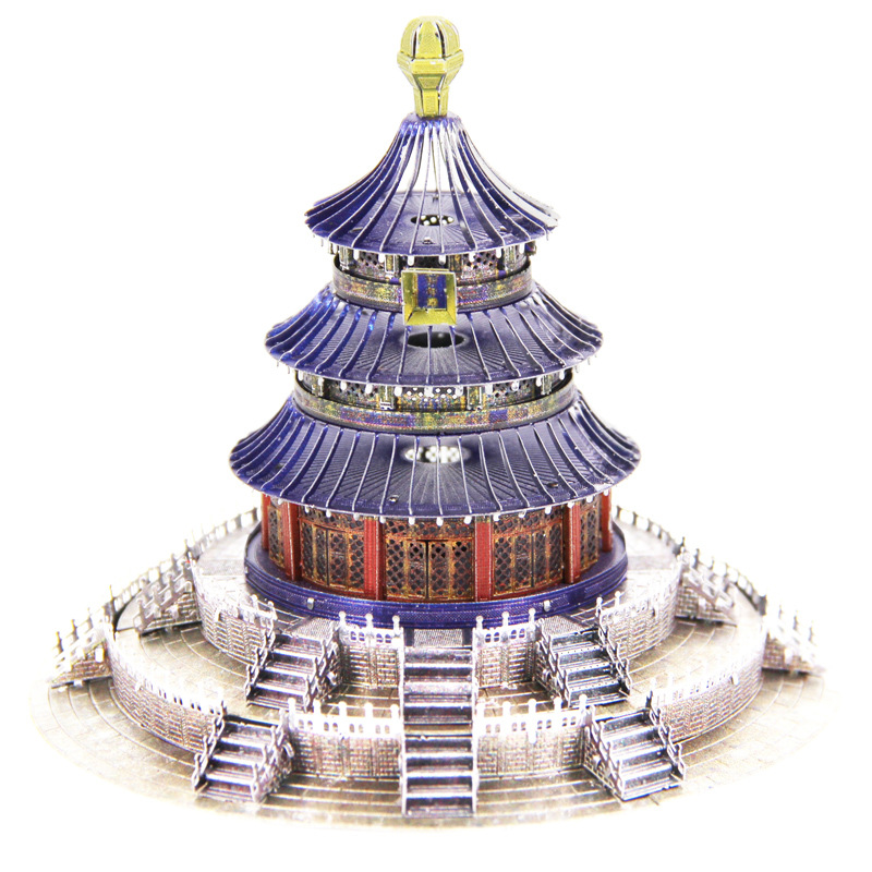 Colorized TEMPLE OF HEAVEN Model Kit Laser Cutting 3D Puzzle DIY Metal Piececool Jigsaw Gift