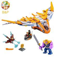 Legoing Marvel Super Heroes Vingadores Thanos Filme Batalha Final 76107 Modelo Lepin Building Block Tijolo Brinquedo Para Crianças 07103