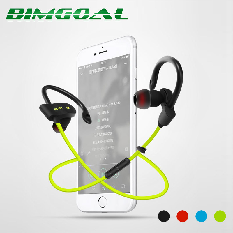 56S Sports Wireless Bluetooth Earphone Stereo Earbuds Headset Bass Earphones with Mic In-Ear for iPhone 6 Samsung Phone leory l6 wireless bluetooth earphone sports heavy bass v4 0 edr earphones with mic wireless headset ear hook universal 4 colors