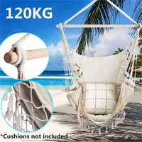 Deluxe Hammock Chair Hammocks Hanging Chair Swing Indoor Outdoor With Tassel